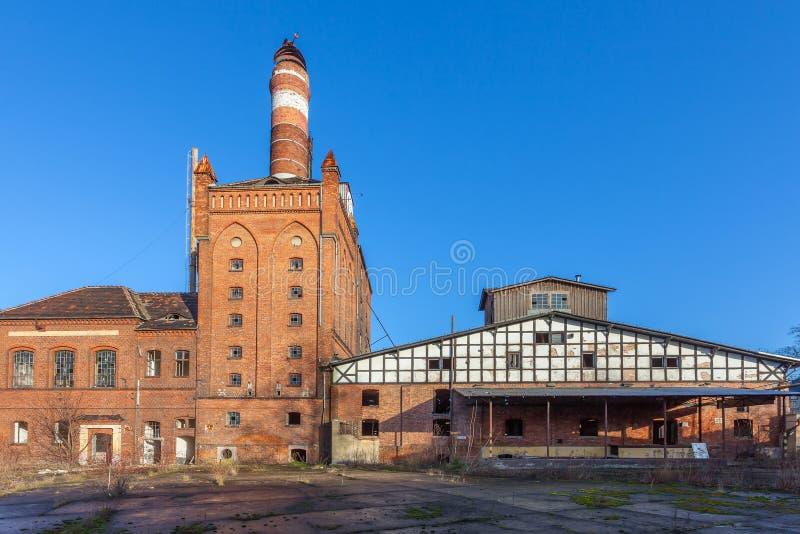 Die Gebäude der alten Fabrik stockbild