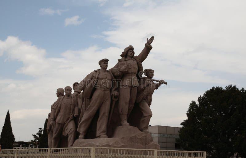 Die Gedenkhalle des Vorsitzenden Mao Zedong stockfoto