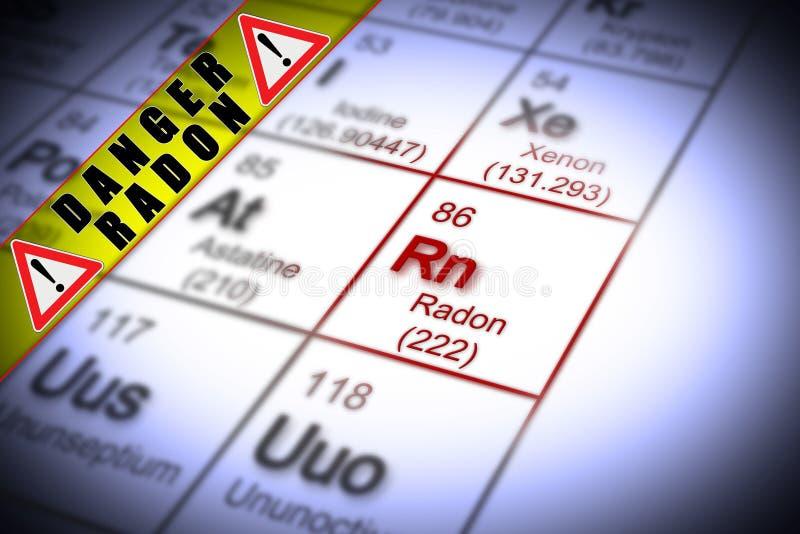 Die Gefahr des Radongases in unseren H?usern - Konzeptbild mit Zeitraum lizenzfreies stockbild