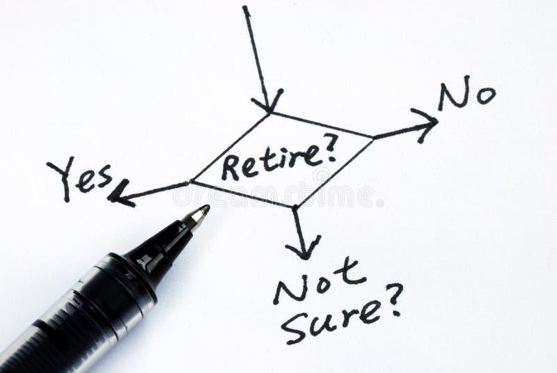 Die Gefahr, zum des Ruhestandes zu nehmen lizenzfreies stockfoto