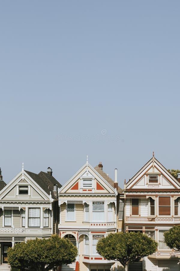 Die gemalten Häuser von San Francisco, USA lizenzfreie stockfotografie
