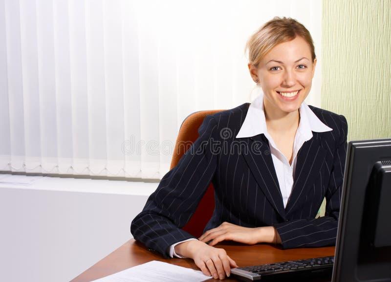 Die Geschäftsfrau lizenzfreie stockbilder