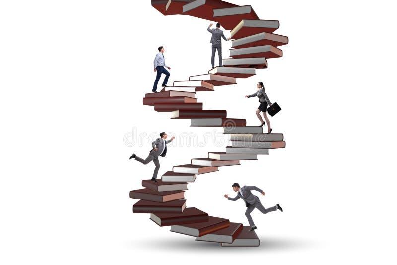 Die Geschäftsleute in der Bedeutung des Bildungskonzeptes lizenzfreie abbildung