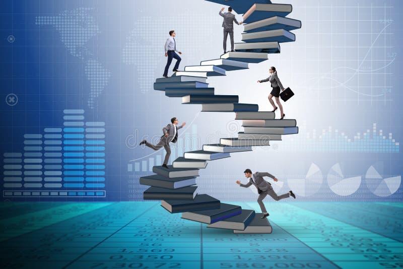 Die Geschäftsleute in der Bedeutung des Bildungskonzeptes vektor abbildung