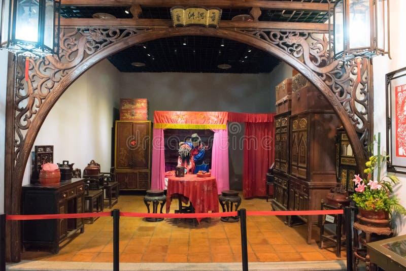 Die Geschichte und die Volk-Szene in Xiamen-Museum lizenzfreies stockbild