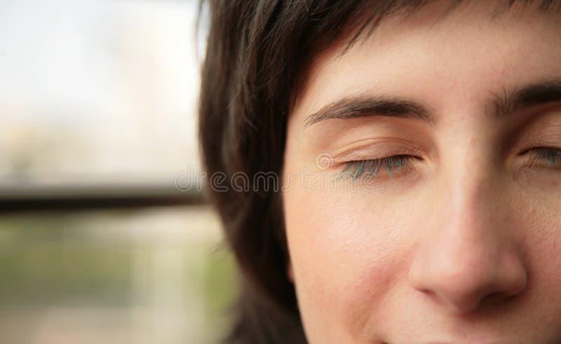 Die geschlossenen Augen stockfoto