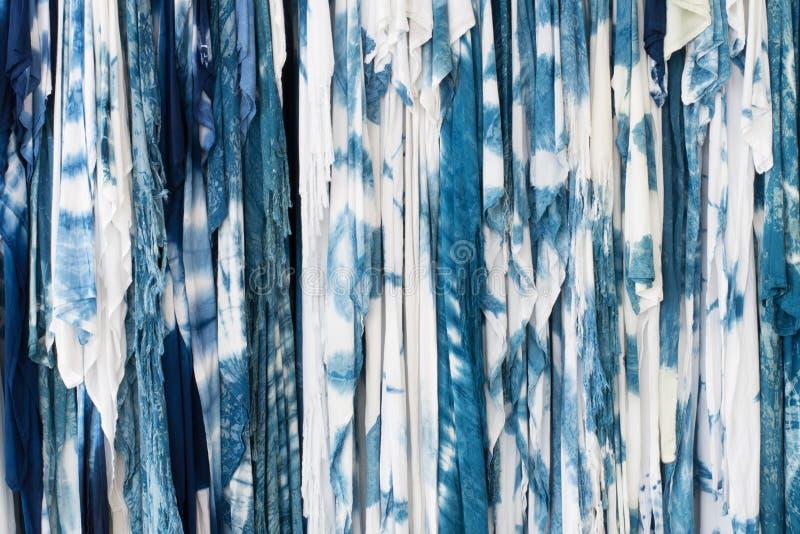 Die Gewebeindigo-Bindungsfärbung lizenzfreies stockfoto