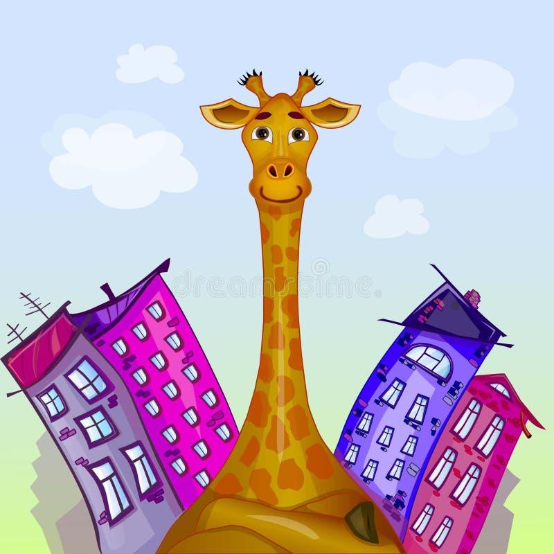 Die Giraffe lizenzfreie abbildung