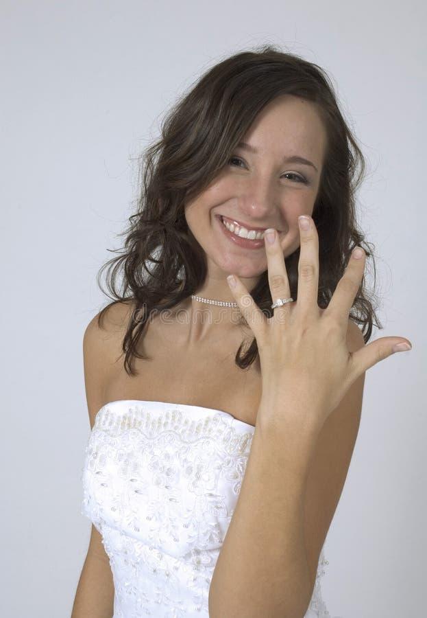 Die glückliche Braut lizenzfreie stockfotos