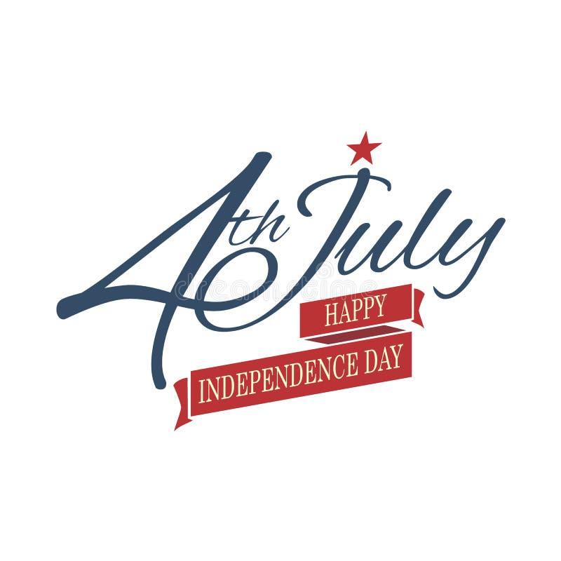 Die glücklichen Unabhängigkeitstag Vereinigten Staaten von Amerika, 4. von Juli lizenzfreie abbildung