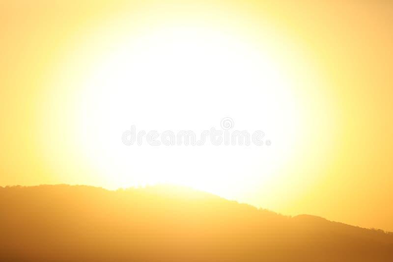 Die glühende Sonne stockfoto
