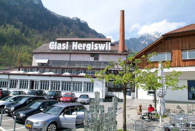 Die Glasverarbeitungsindustrie von Glasi Hergiswil in der Schweiz stockbild
