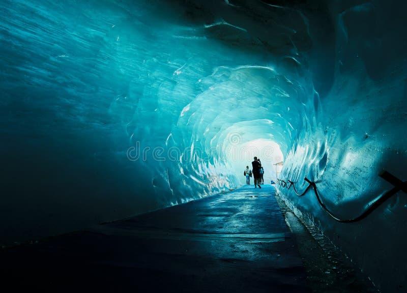 Die Gletscherhöhle Mer de Glace, Chamonix, Frankreich lizenzfreie stockfotografie