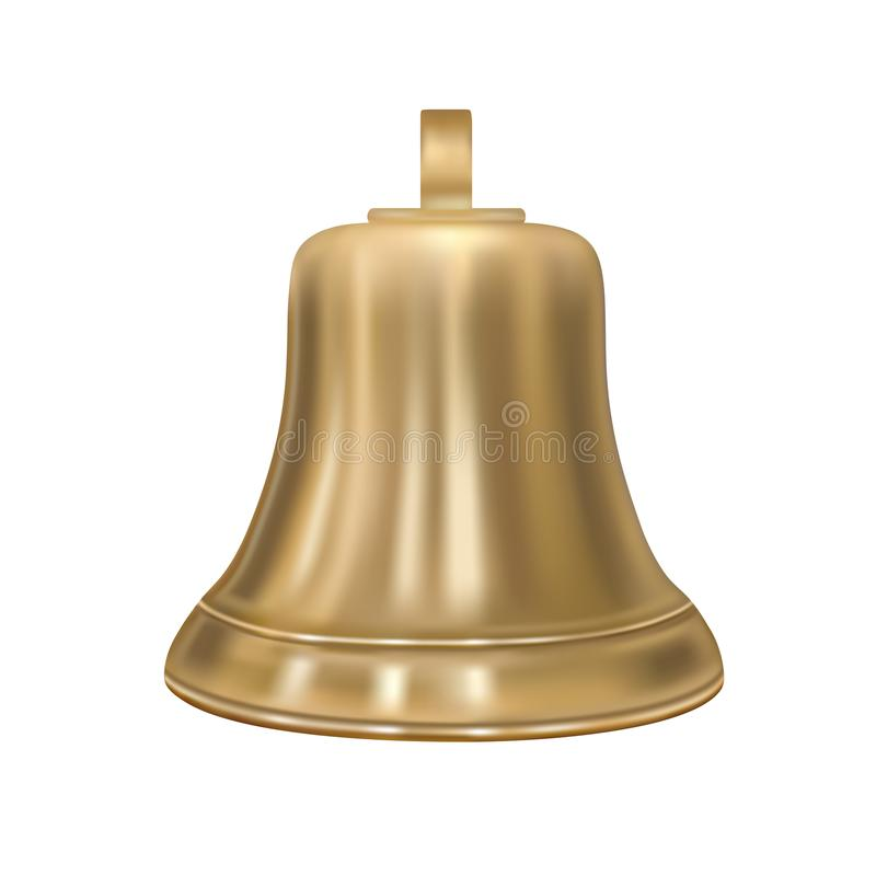 Die goldene Glocke im Vektor vektor abbildung