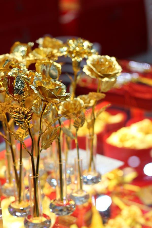 Die goldene Rose stockfoto
