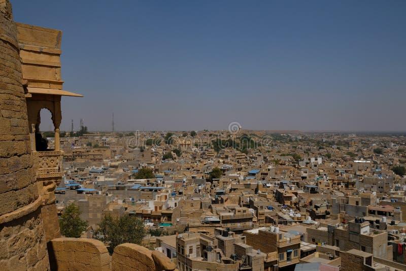 Die goldene Stadt von Jaisalmer im Rajasthan, Indien stockfotos