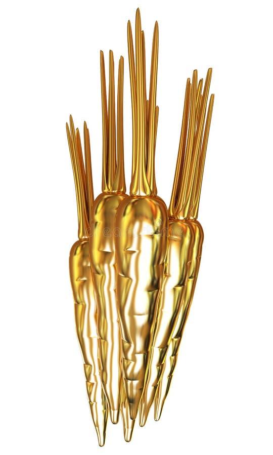 Die Goldkarotten stock abbildung