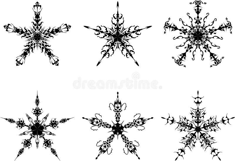 Die gotischen Sterne vektor abbildung