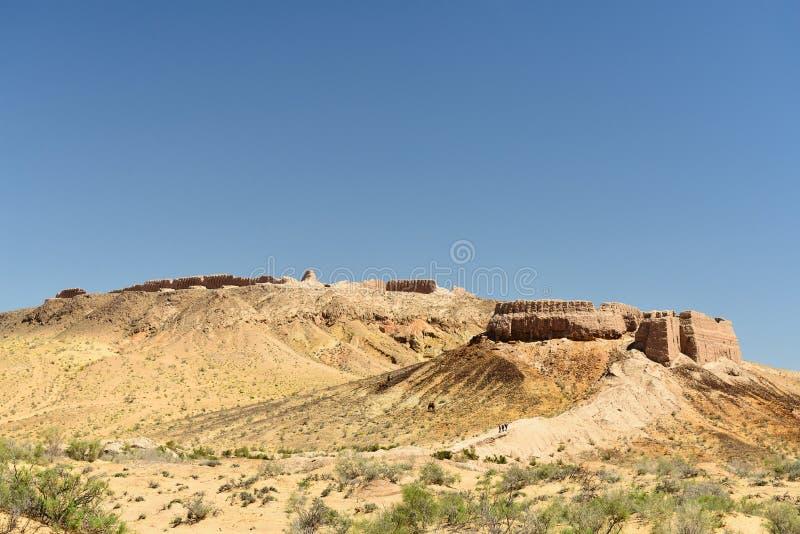 """Die größten Ruinenschlösser alten Khorezm-†""""Ayaz - Kala, Usbekistan stockfoto"""