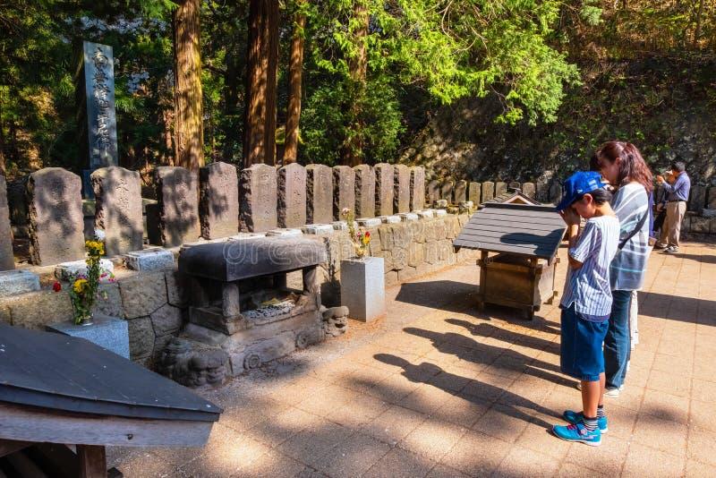 Die Grabstelle von Byakkutai in Aizuwakamatsu, Japan lizenzfreie stockbilder