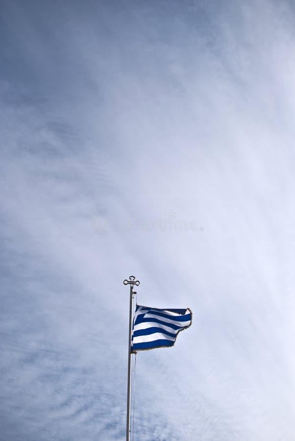 Die griechische Flagge lizenzfreie stockfotos