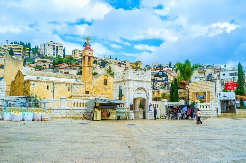 Die griechische Kirche stockfotos