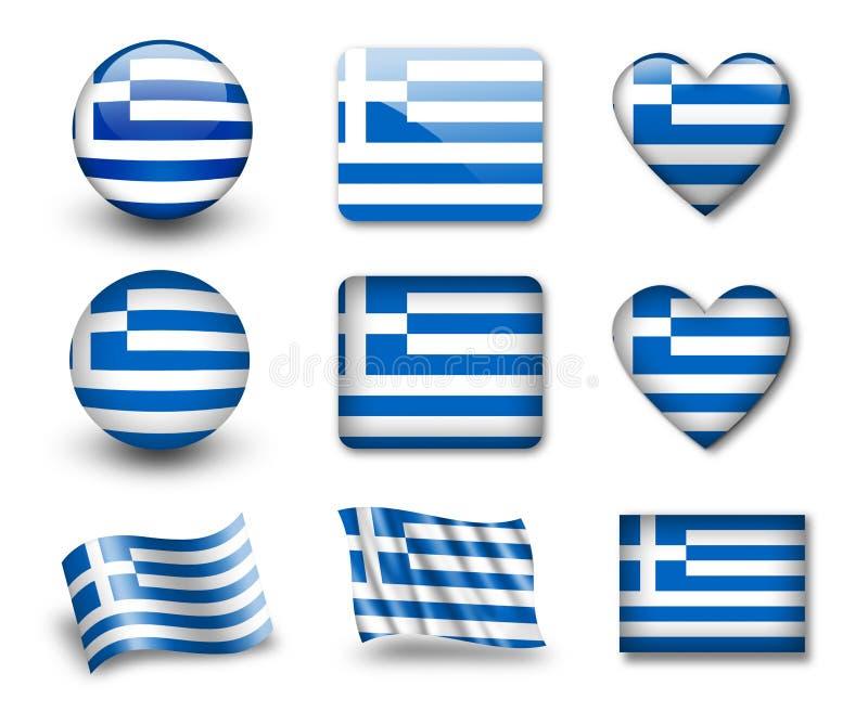 Die griechische Markierungsfahne stock abbildung