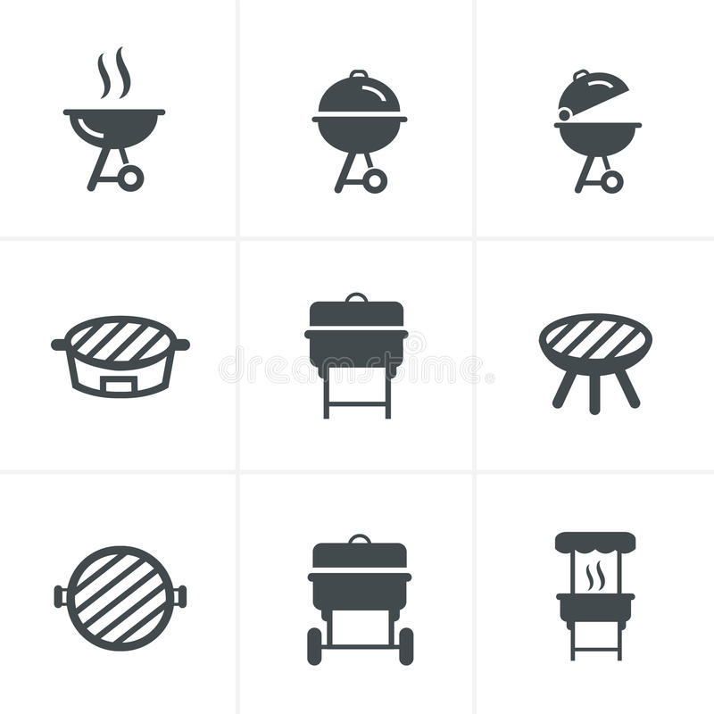 Die Grillikone Grillsymbol lizenzfreie abbildung