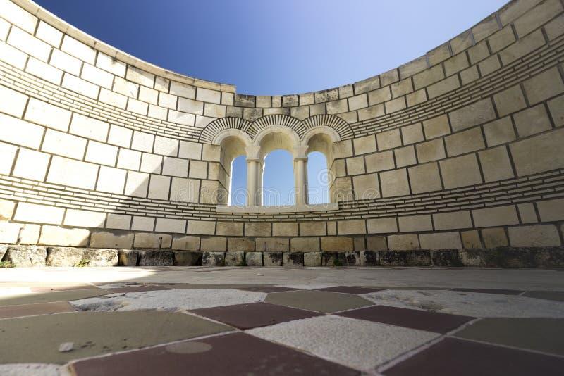 Die große Basilika von Pliska stockbild
