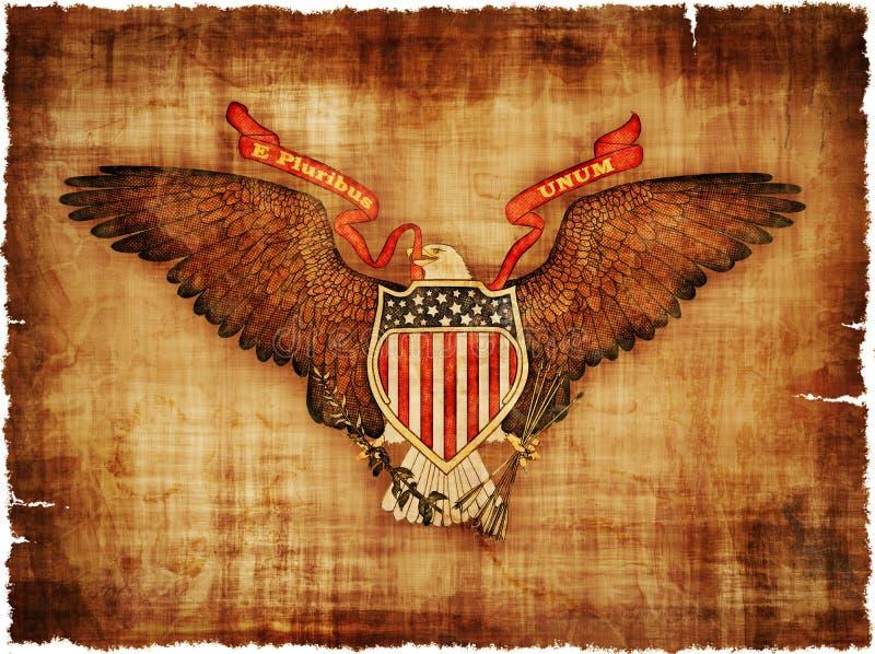 Große Dichtung der USA auf Pergament stock abbildung