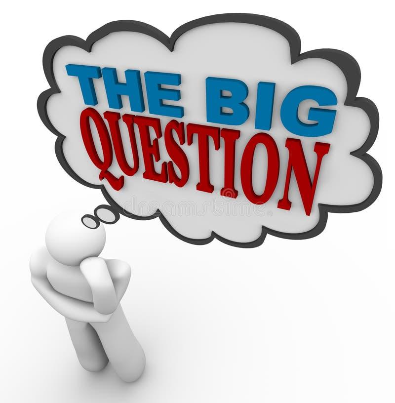 Die große Frage - Gedanken-Luftblase vektor abbildung