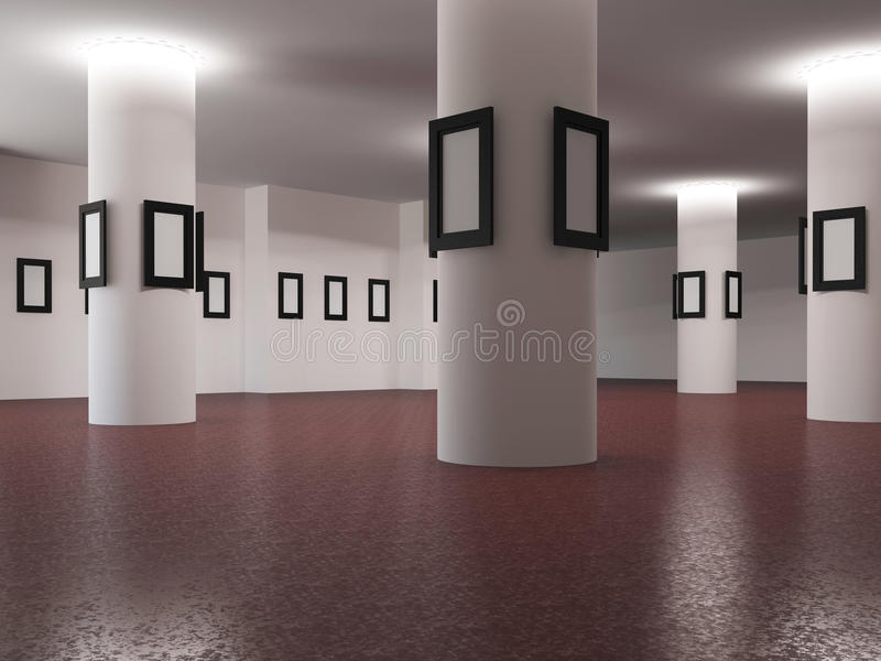 Die große Galerie stock abbildung