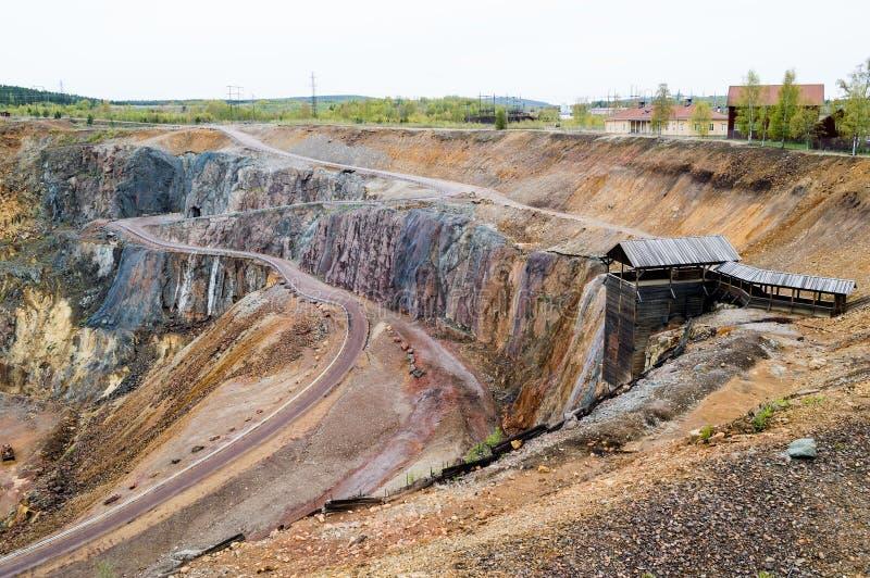 Die große Grube stockfoto