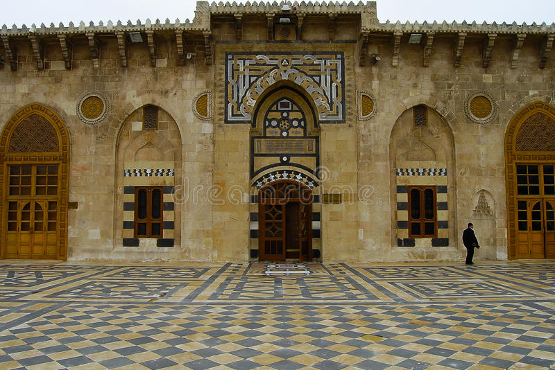 Die große Moschee von Aleppo 2010 - Syrien stockbilder
