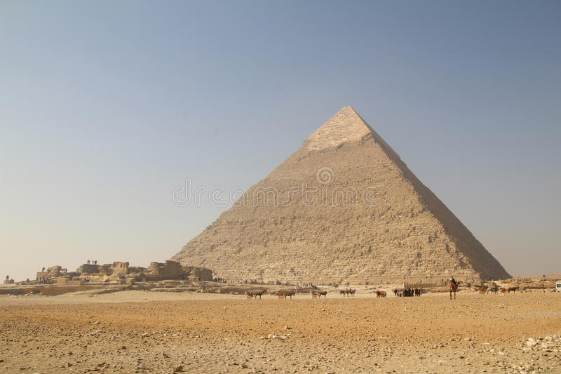 Die große Pyramide lizenzfreies stockfoto