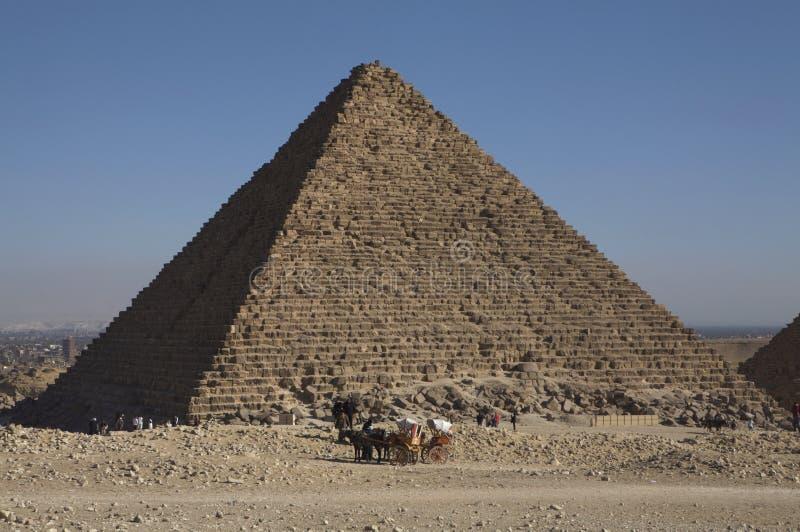 Die große Pyramide in Giza, Ägypten lizenzfreies stockbild