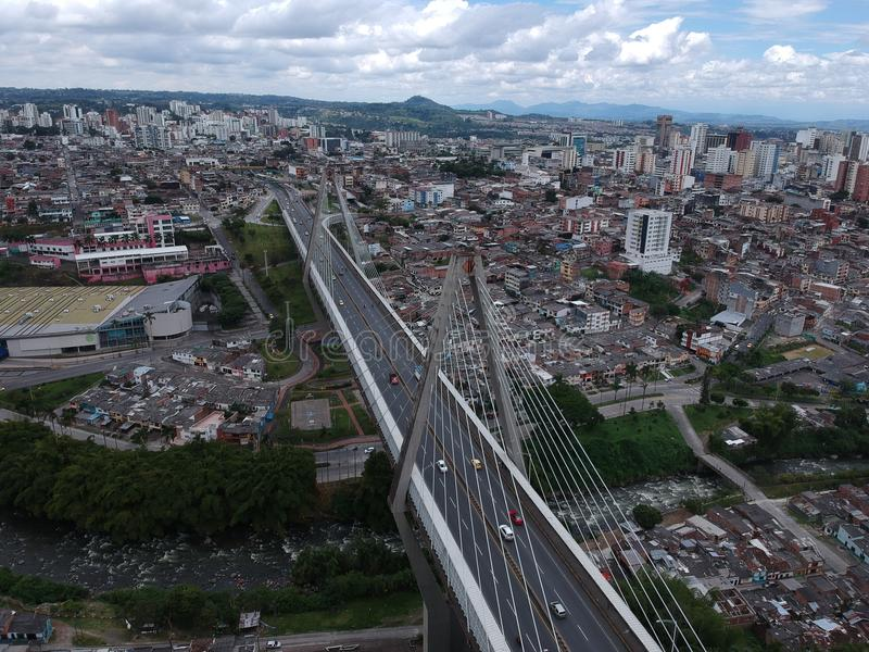 Die große Struktur in Pereira Risaralda Kolumbien lizenzfreies stockfoto