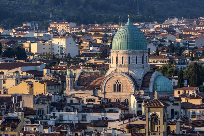 Die große Synagoge - Florenz - Italien stockbilder