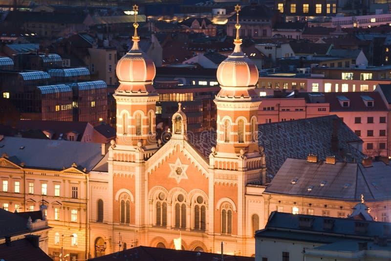 Die große Synagoge in Pilsen stockfotografie