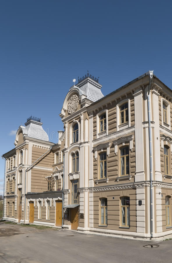 Die große Synagoge von Hrodna stockfoto