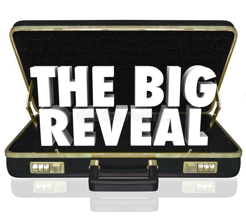 Die großen decken Öffnungs-Aktenkoffer-aufschlussreiches Geheimnis nach innen auf lizenzfreie abbildung