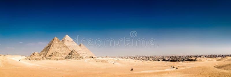 Die großen Pyramiden von Giseh, Ägypten stockbilder