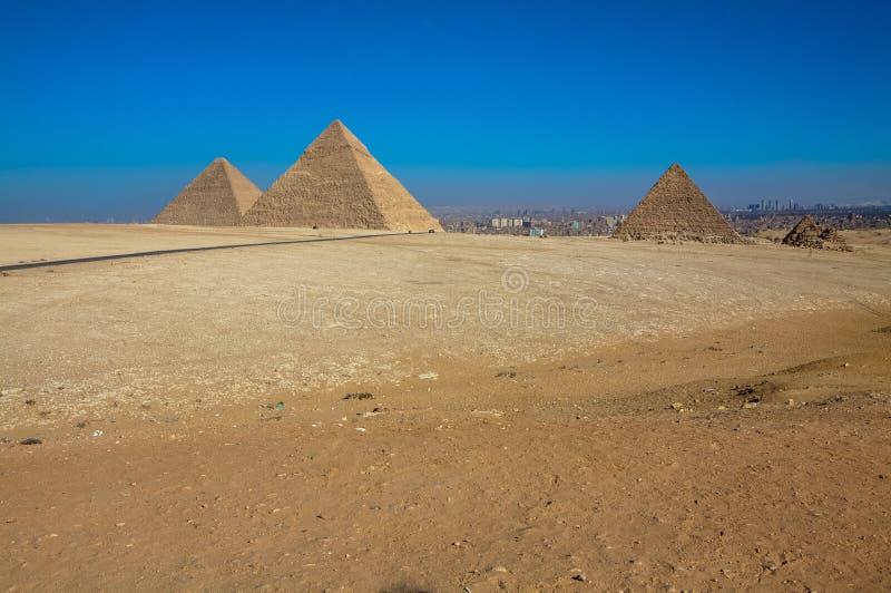 Die großen Pyramiden von Giseh, Kairo, Ägypten stockfoto