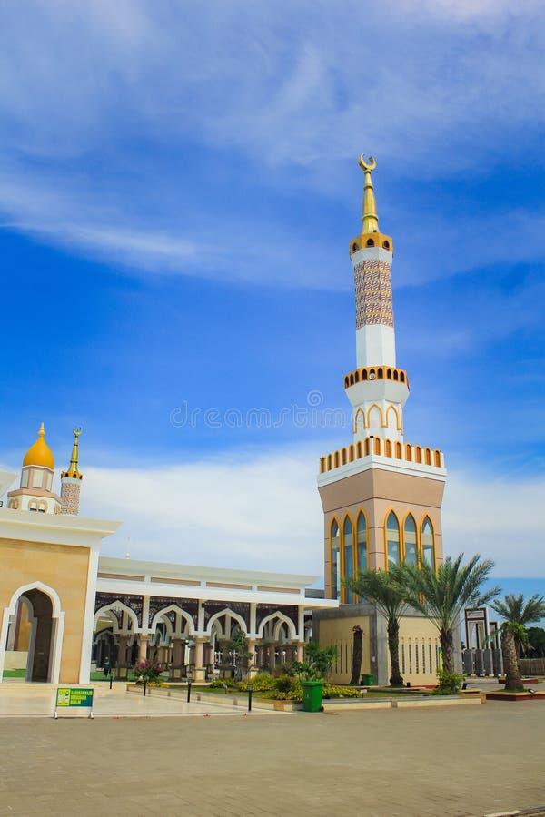 Die große Moschee von Indramayu West-Java Indonesia lizenzfreies stockfoto
