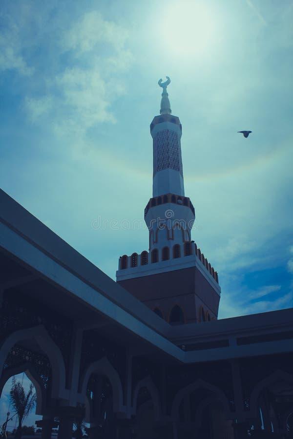 Die große Moschee von Indramayu West-Java Indonesia stockfotografie