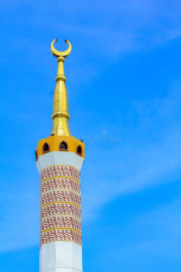 Die große Moschee von Indramayu West-Java Indonesia stockfoto