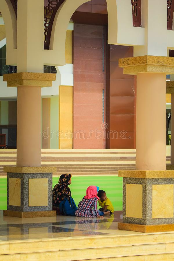 Die große Moschee von Indramayu West-Java Indonesia stockbild