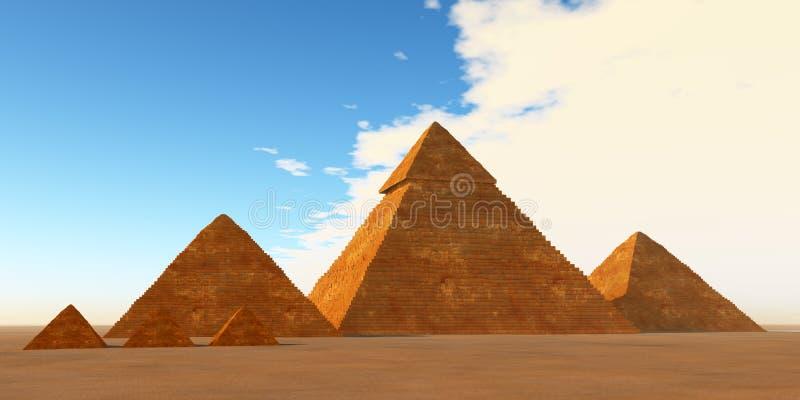 Die gro?en Pyramiden lizenzfreies stockfoto