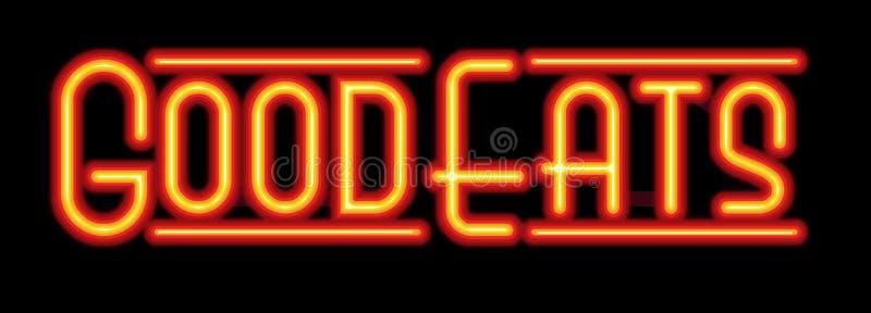 Die gute Restaurant-Restaurant-Leuchtreklame isst vektor abbildung