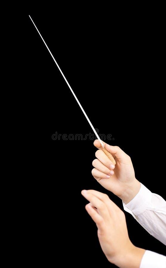 Die Hände des Leiters lizenzfreies stockbild